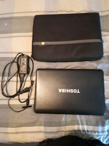 "Toshiba Laptop 16"" Windows 7 500gb with accesseries"