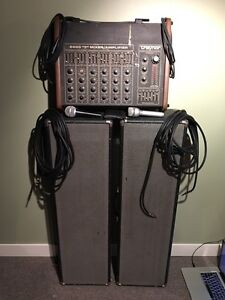 Vintage Traynor PA System with Mics and Cables