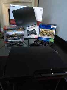 PS3 Bundle|3 Controllers|All Wires|13 games|