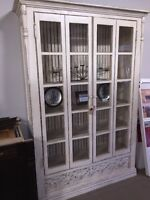 Double- Hinged Glass Door Cabinet for sale