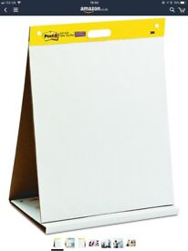 3M Post-it Table Top Meeting Chart, 20 Self-Adhesive Sheets 508 x 584 mm - White. RRP £29