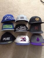 Flex fit and snap backs