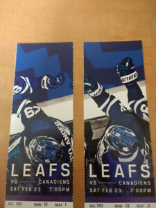 Maple Leafs vs. Canadiens tickets Sat. Feb 23rd