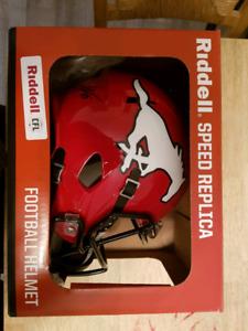 2018 stampeders grey cup autographed helmet