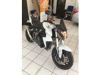 Honda CB1000R A-9 ONLY 15000 MILES FINISHED IN PEARL WHITE WITH CARBON AND BLACK