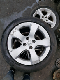 17 inch alloy wheels rim with tyre peugeot 3008 4 stud