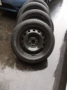 FIAT 500 HIGH PERFORMANCE WINTER TIRES 205/55/16 ON FACTORY RIMS