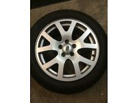 Range Rover alloys with winter tyres