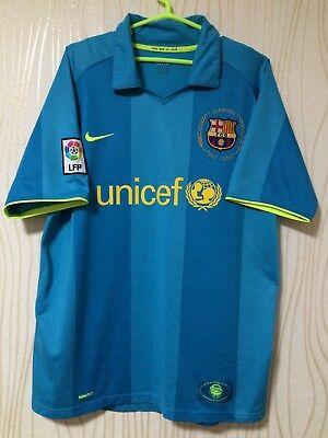 d96d927e570 BARCELONA 2007 2008 NIKE AWAY FOOTBALL SOCCER SHIRT JERSEY CAMISETA MAGILA  SPAIN