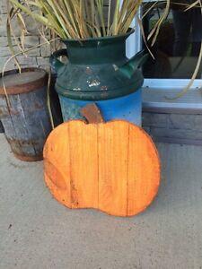 Rustic pumpkin decoration