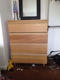 Set of ikea drawers