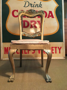 Antique Solid Oak Turkey Foot Dining Chair Original (c. 1780)