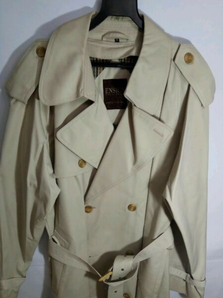 ENSIGN Collection Men's Winter Trench Coat (size M) - Beige