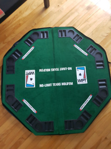 Table poker pliable