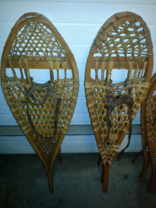 Classic wooden snowshoes