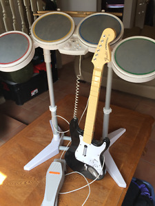 Wii Drums, Guitar and CD