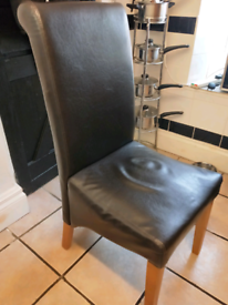 CHAIRS FREE 4 FAUX LEATHER