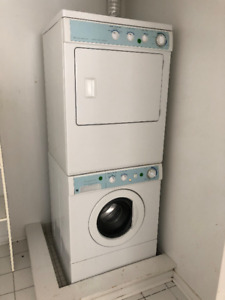 stackable Frigidaire washer and dryer