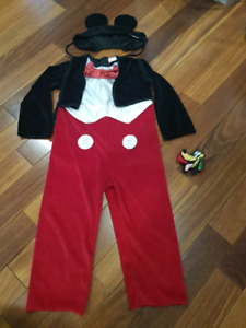 Costume de Mickey Mouse 2-4ans, comme neuf