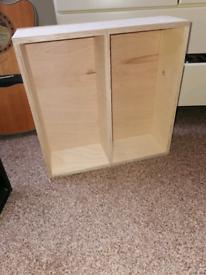 Handmade unpainted - wall unit / shelf unit
