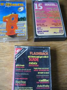 3 cassettes audio de compilation
