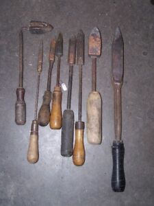 TOOLS - ASSORTMENT OF VINTAGE COPPER SOLDERING IRONS