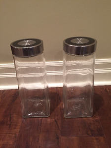 pair of Multipurpose Storage Canister Jar Food Containers