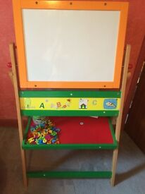 Children's chalk and magnet board