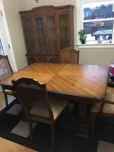 Table Set And Hutch For Sale