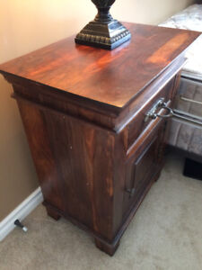 Two ROSEWOOD Antique style Night Tables