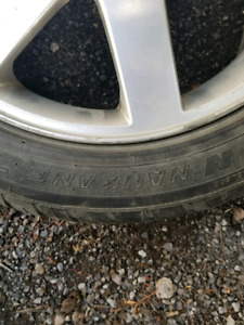 "17"" Volvo rims with tires"