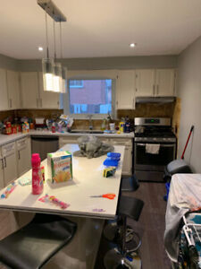 Kitchen cabinets and kitchen island for sale