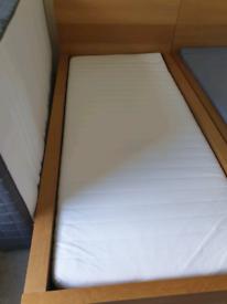 IKEA Malm Single Bed Oak Veneer
