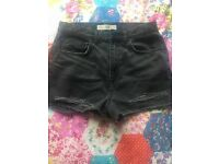 TOP SHOP size ten ripped MOM shorts
