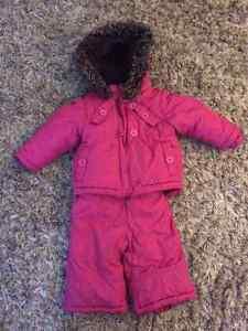 Girls 6-12 Month Winter Coat/Snow Pant Combo
