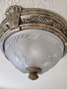 Light fixture flush mount takes two stsndard bulbs