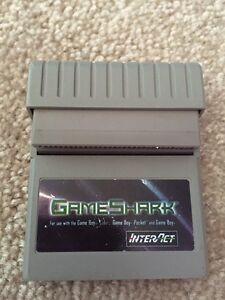 Gameshark for gameboy, gameboy pocket and gameboy colour
