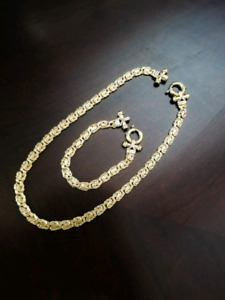 14k gold chain and bracelet