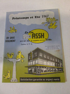 catalogue de collection.  La Cie. ASSH inc.
