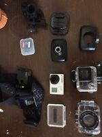 Go pro with mounts and emerson action camera