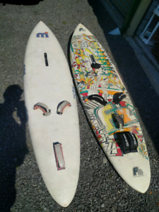 2 Windsurfing boards, F2 and Mistral