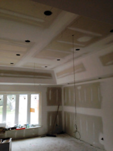 DRYWALL INSTALLATION/STUCCO REMOVAL/SMOOTH CEILING/ TAPING