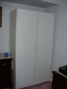 two wardrobes + steel shelf  $100 GETS YOU ALL THREE!
