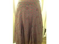 Mantaray skirt fully lined 100% cotton brand new size 14