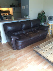 Gorgeous Brown Leather Couch - Top Quality!