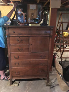 Antique mahogany mens and ladies dressers