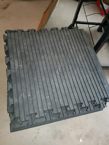 Interlocking workout mats. 2' x 2' each. 6 of them.