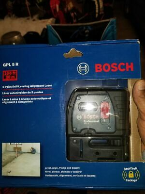 🌟🎈 BOSCH GPL 5 R Self Leveling 5-Point Alignment Laser 100 Feet 🌟