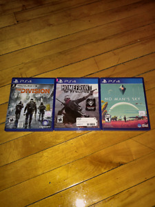 Playstation 4 games 25$ each