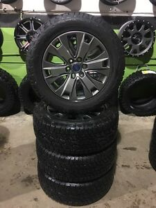 "20"" Ford F-150 OEM Rim & Hankook ATM Tires like new"